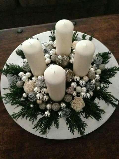 decoracao mesa natal diy centro mesa