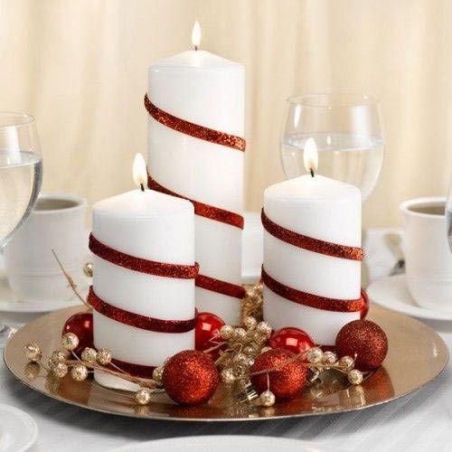 decoracao mesa natal diy velas