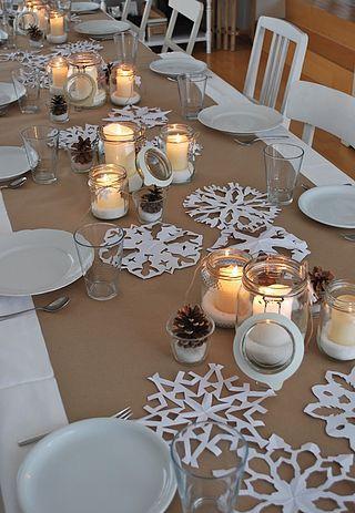 decoracao mesa natal simples beje