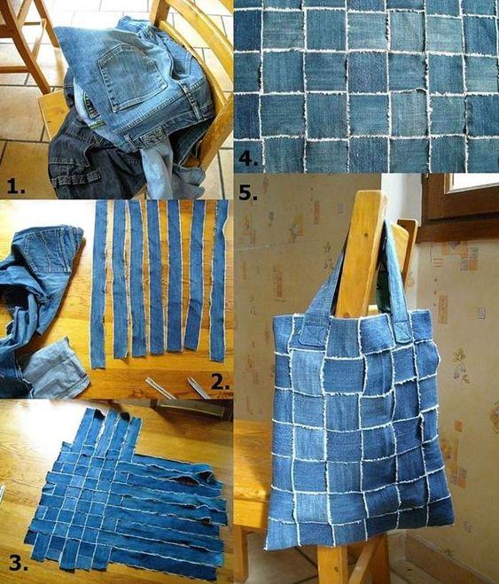 reciclar jeans velhos bolsa diy
