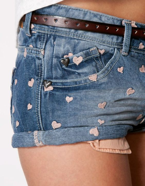 reciclar jeans velhos shorts curtos