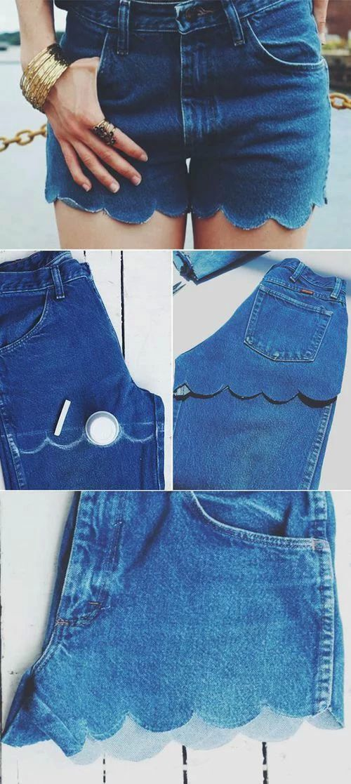 reciclar jeans velhos shorts